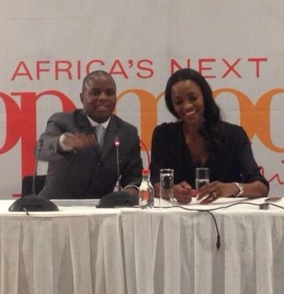 """Launching #AfricasNextTopModel at #CapeTownICC w/ one of Africa's ambassadors @Oluchi and @GoToSouthAfrica. """""""