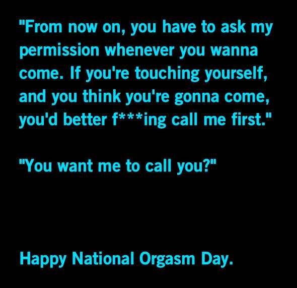 girls on twitter happy national orgasm day everyone