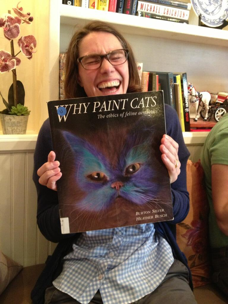 Why paint cats?  Why did the cats paint in the first place?