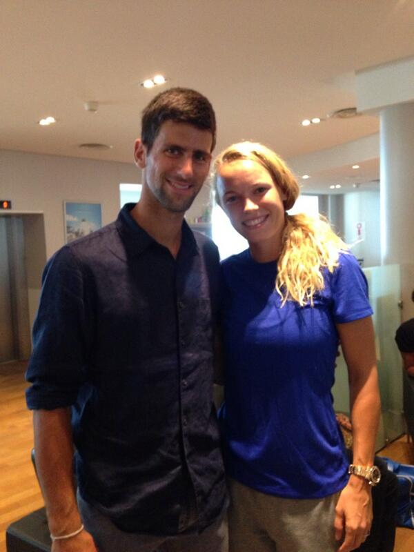 novak djokovic and caroline wozniacki dating