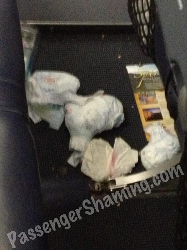 Dirty Diapers, FTW.  #PassengerShaming http://t.co/Nu2sCeYbRU