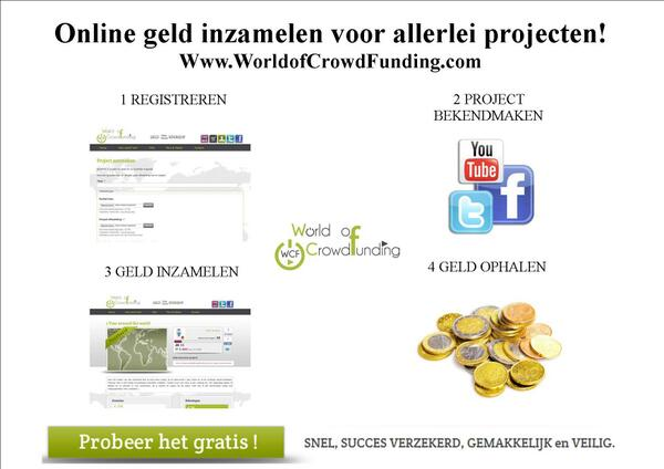 Crowdfunding voor iedereen! http://t.co/0tdHzdfR4a
