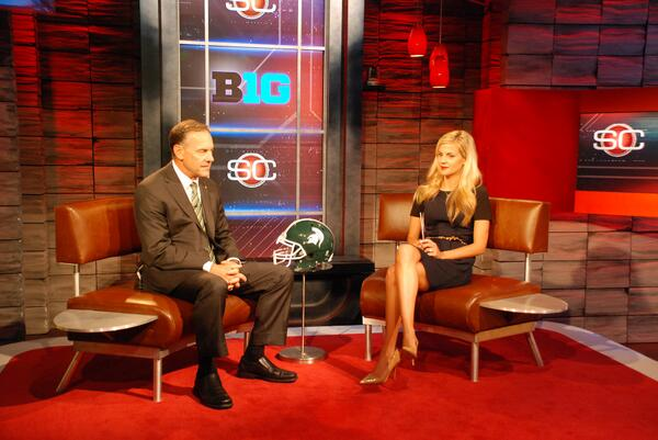 Mark Dantonio joined ESPN's Samantha Ponder for a live interview on SportsCenter Thursday afternoon. #ESPNB1G pic.twitter.com/aHS3L5qxK1