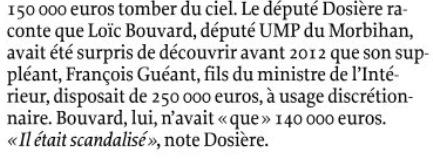 Réserve parlementaire: le fils de Guéant disposait d'une enveloppe de 250.000€ sans être député. via LePoint  #Nice06