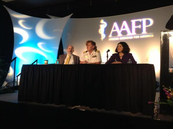 3 amazingly accomplished panelists now taking questions on our mainstage #aafpnc pic.twitter.com/AaGKqx5Ui7
