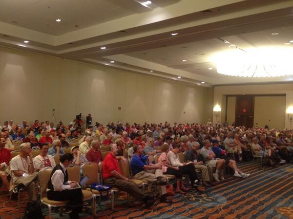 Quite a crowd for the #SABR43 Imagining Baseball panel w/ @thorn_john  @WulfESPN, Eric Greenberg & Mark Cooper. pic.twitter.com/rabRMOQ3M5