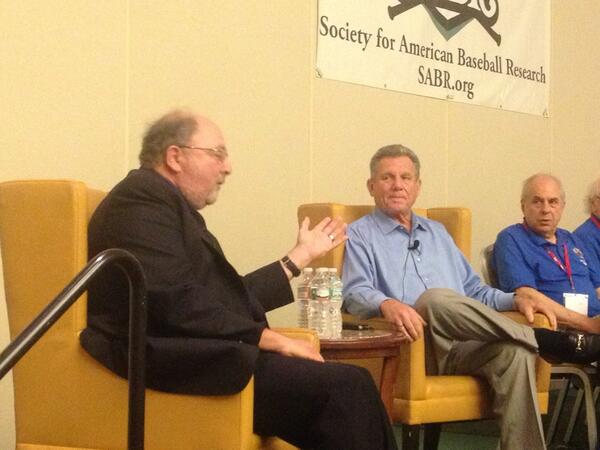 We're happy to have Larry Bowa of @MLBNetwork here at #SABR43 with @boomskie. pic.twitter.com/XkDMMMmY2B