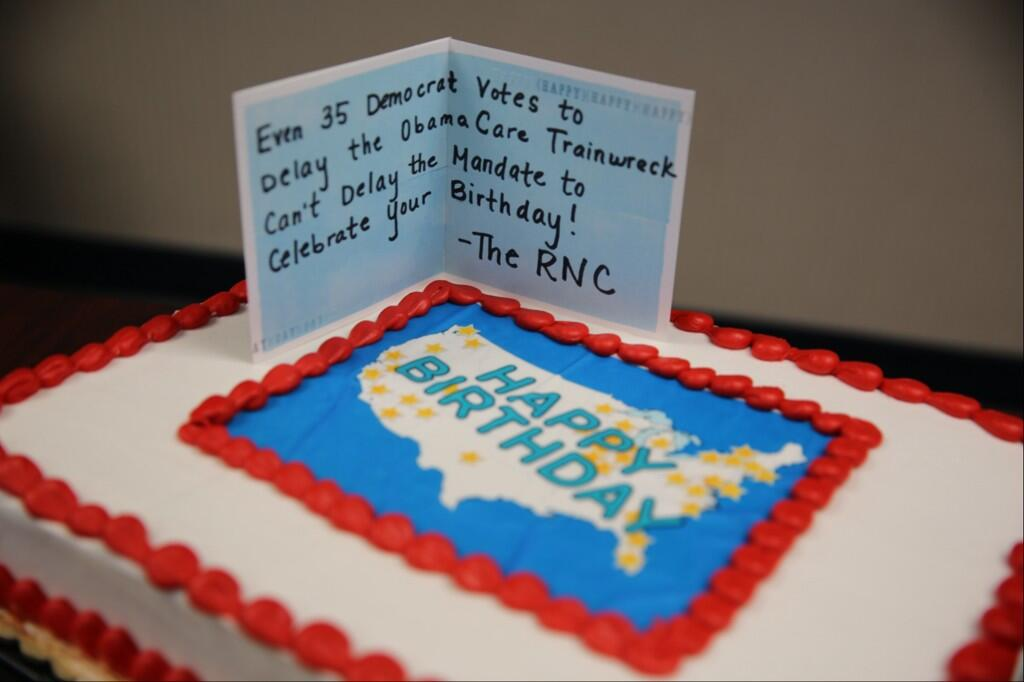 obamacare, obama, birthday, republican, rnc, republican national committee