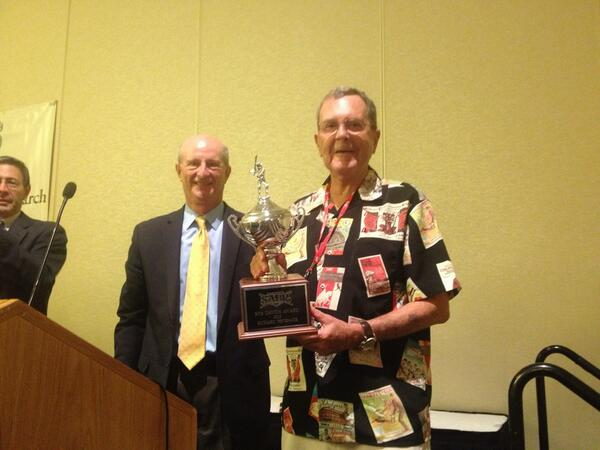 And the winner of the Bob Davids Award: Dick Beverage! Ex-SABR president and PCL historian. #SABR43 pic.twitter.com/GxJGUY0NXH