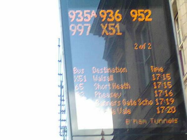 #phantombuses announced at the city centre, but no updated info on #gridlock in #Birmingham - commuter Lois Stanley pic.twitter.com/53HBH38sIK