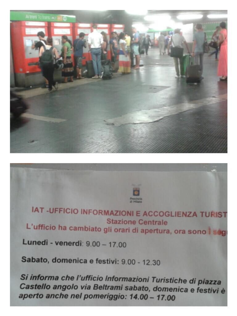 E' questa accoglienza turistica in vista di #Expo2015?@GDallAra @Expo2015Milano  @turismomilano @ComuneMI @ATMMilano http://t.co/snOs1llAm1