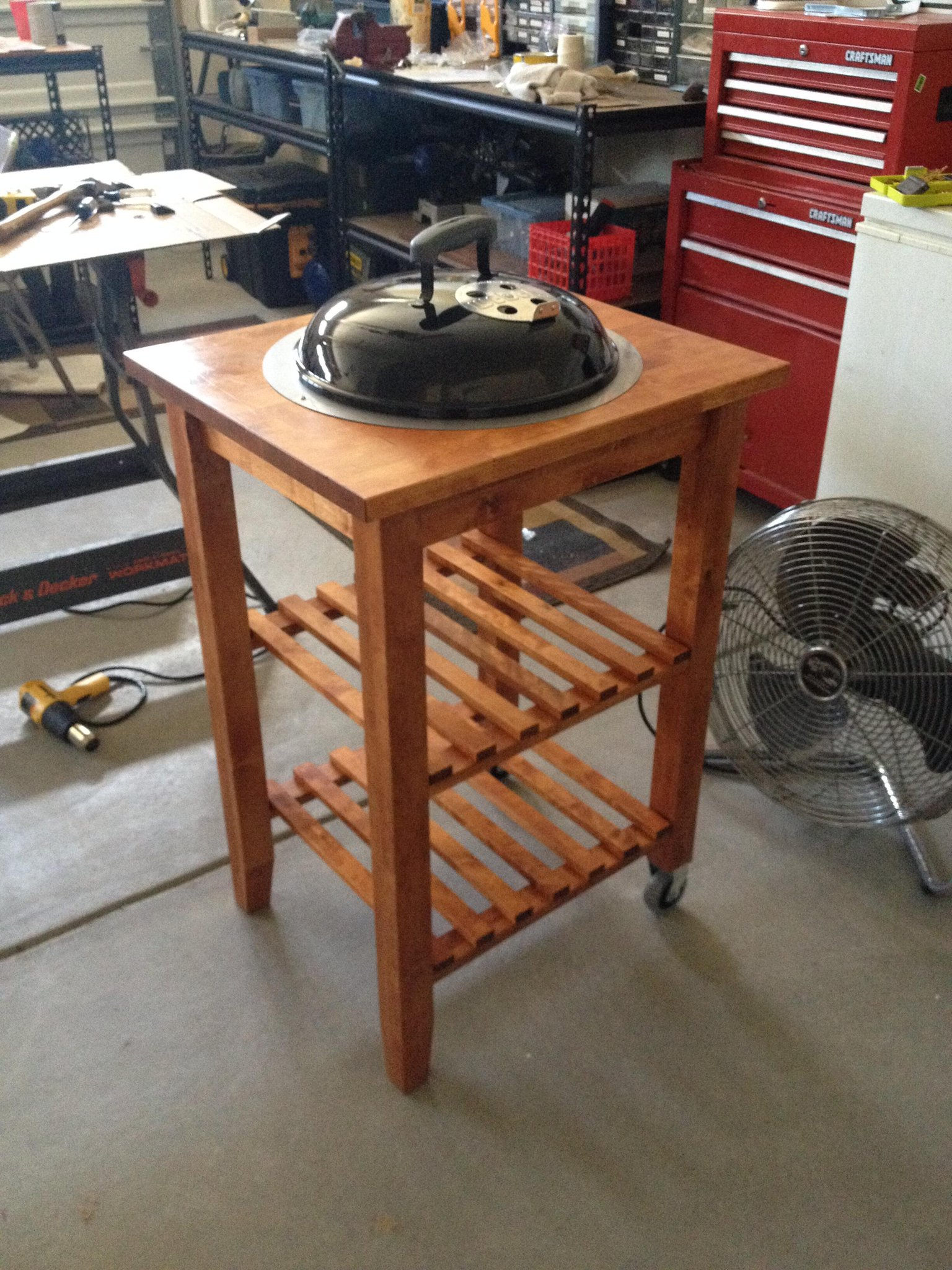 scott newman on twitter make i made a sweet mini grill table from an ikea kitchen cart a. Black Bedroom Furniture Sets. Home Design Ideas