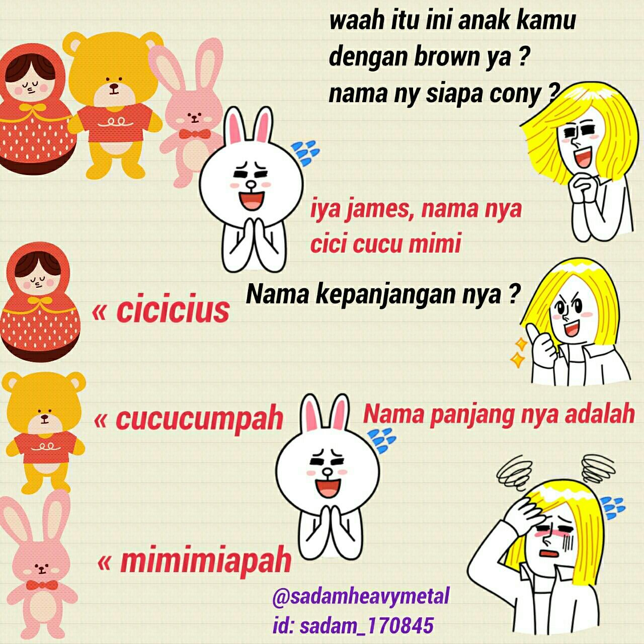 Line Comik On Twitter Anaknya Brown Dan Cony D LN N RT