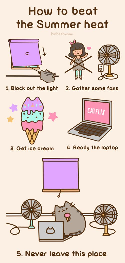 Pusheen How To The Cat On Twitter Beat Summer
