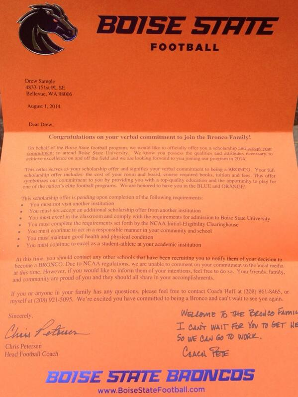 Drew Sample On Twitter Got My Official Offer And Verbal