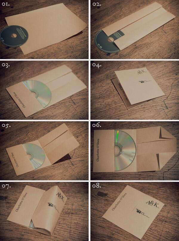 CDケースがないときに紙で作る方法 via