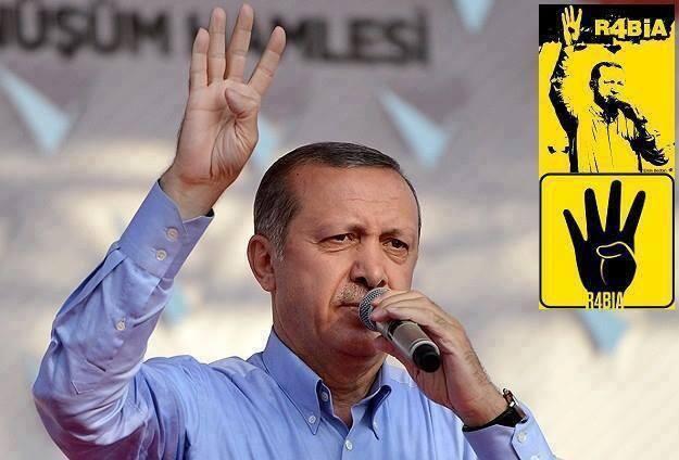 erdogan, four finger salute, rabaa, egypt, turkey, muslim brotherhood