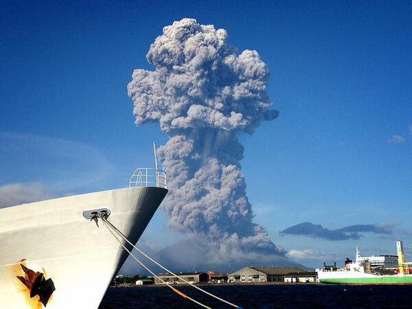 桜島爆発なう