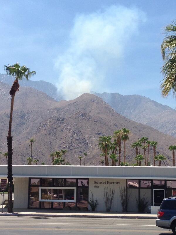 Thumbnail for Fire near Palm Springs tram sends smoke over desert
