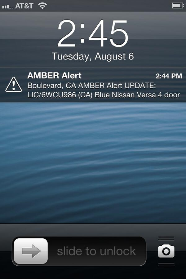 Thumbnail for Amber Alert Startles SoCal Awake