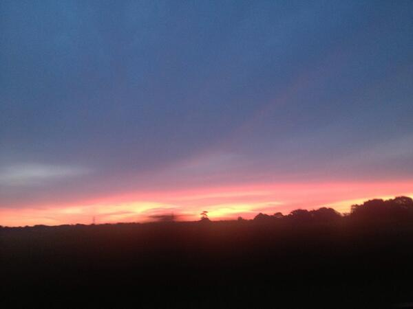 Good morning! Beautiful sunrise this morning, love the drive in when its like this. We will be open at 6am