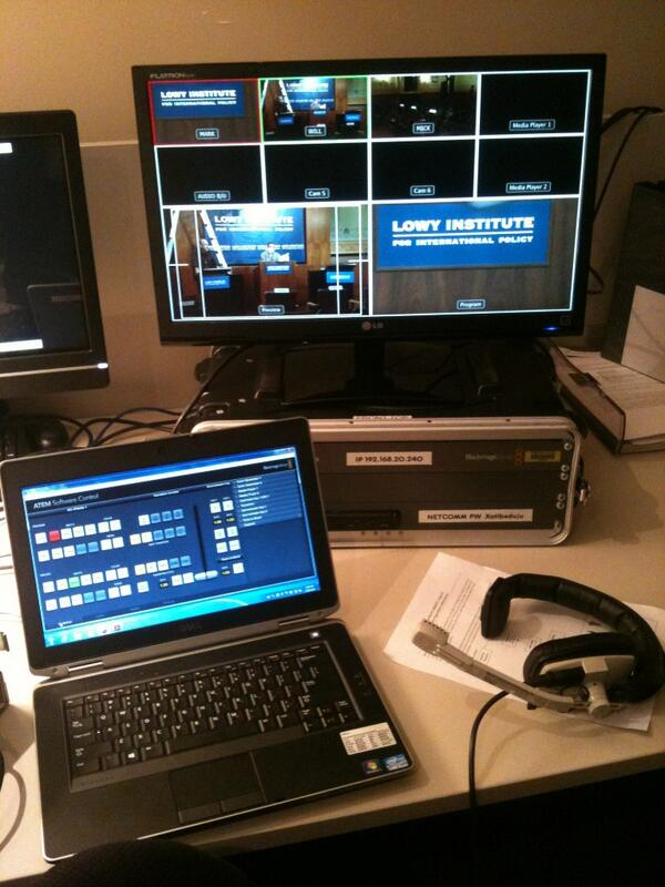 My workstation for Foreign Policy Debate.  Live at 5:45pm on #ABCNews24. #FPDebate pic.twitter.com/BXqHg5GKtt