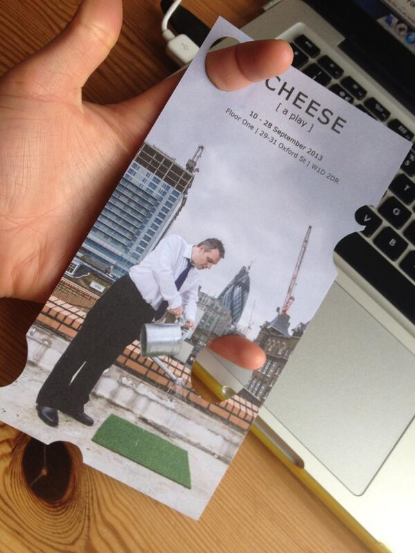 Hol(e)y flyers, coming soon to a rack near you #cheesetheplay pic.twitter.com/0doBZj47pz