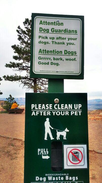 A dog pickup sign from Bryce Canyon for @dogjaunt http://t.co/86nua1vR7j