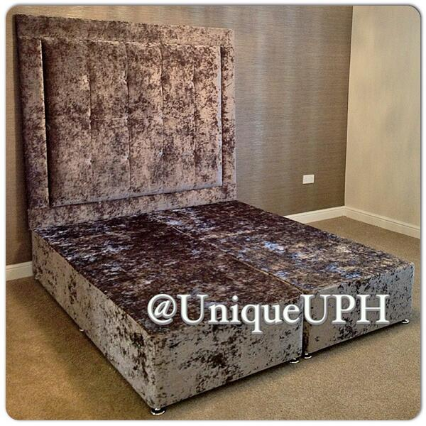 Unique Upholstery On Twitter Full Silver Crushed Velvet Bed Headboard With Square Effect Http T Co Ay5zjsvq6b