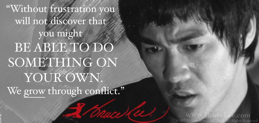 """Bruce Lee on Twitter: """"""""We grow through conflict"""" - # ..."""