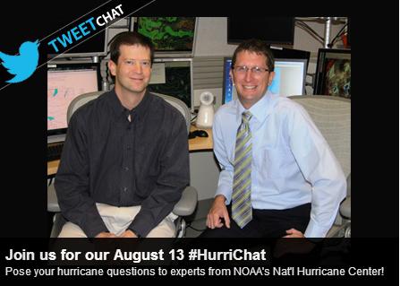 TODAY 2 pmET: Tweet your Qs for #HurriChat w/ NOAA's Nat'l #Hurricane Ctr! 1.usa.gov/1bfQsWg .@NHC_Atlantic pic.twitter.com/G56stx5FVE