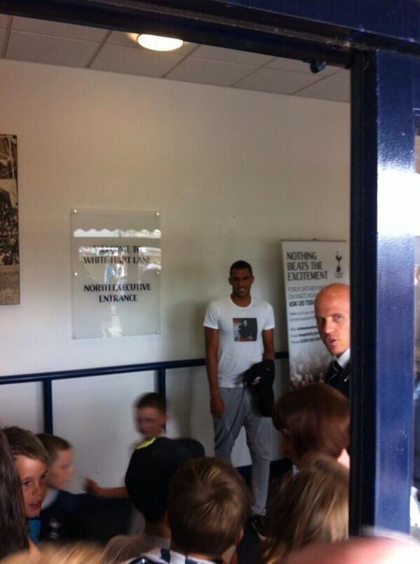 The snaps: Etienne Capoue spotted at White Hart Lane for Spurs v Espanyol friendly