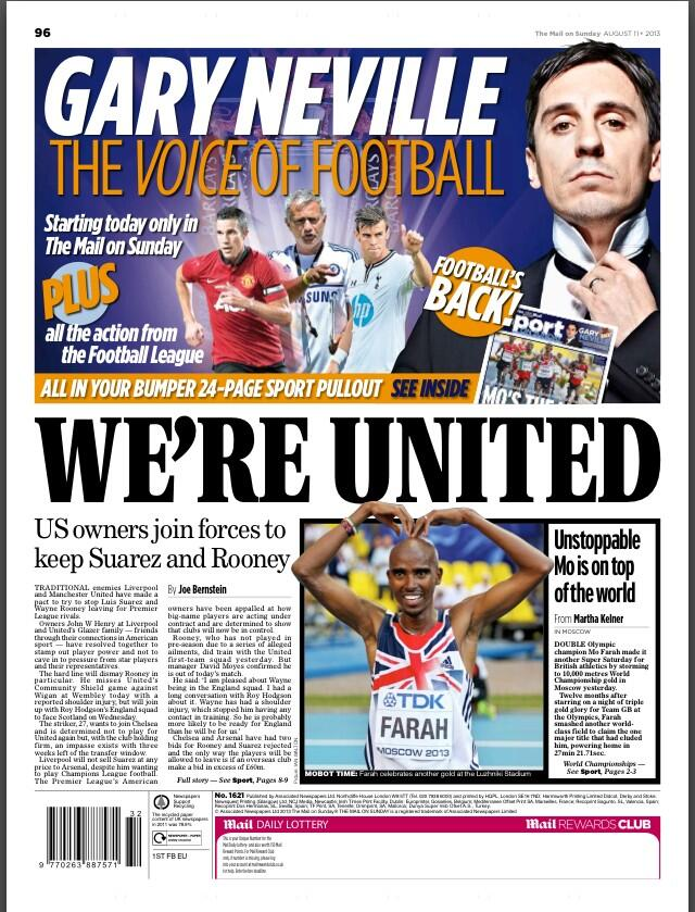 Man United & Liverpool owners team up to squash Rooney & Suarez player power [Mail]