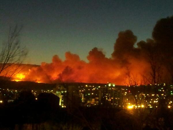 El incendio en Villa Carlos Paz a esta hora.. pic.twitter.com/logYQnTVy6