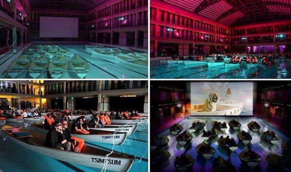 Earth pics on twitter screeing of life of pi in a for Life of pi swimming pool
