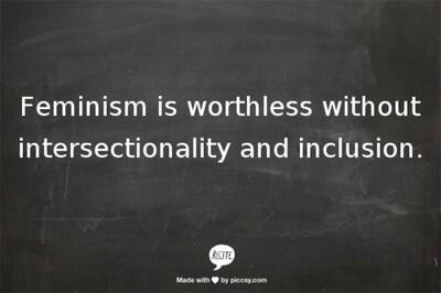 #SolidarityIsForWhiteWomen - I'm not a Feminist: I'm an Intersectional Activist. pic.twitter.com/HWXic2lZrK