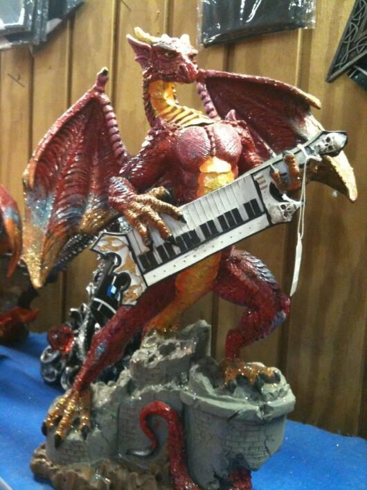 I'm tired of fascinating/Earth/history pics that are clearly bullshit. This dragon with a keytar is the real deal.  http://t.co/4WoYKijbOE