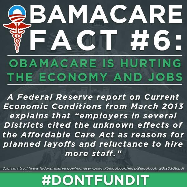 Twitter / tedcruz: Obamacare: Causing layoffs ...