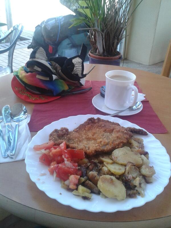 This was my third breakfast today. At 8 30 a.m. Wiener schnitzel. And why not? http://t.co/wFCxisSWSj