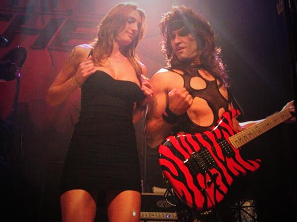 Steel Panther Girls On Stage