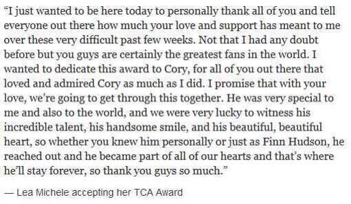 Cory is in our hearts ❤ http://t.co/6MUD1mCVcf