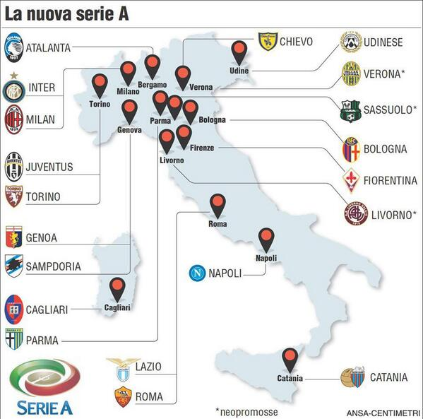 Petrit On Twitter Serie A Teams On Map Location Calcio Http T Co Hb4lv8tm9h