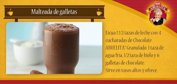 Chocolate Abuelita On Twitter La Malteada De Chocolate Con