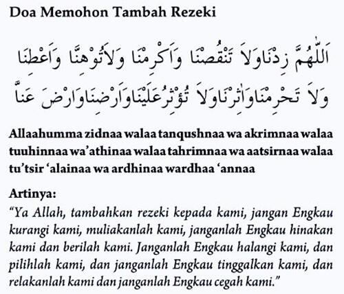 "Doa Harian on Twitter: ""Ya Allah, tambahkan rezekiMu yang ..."