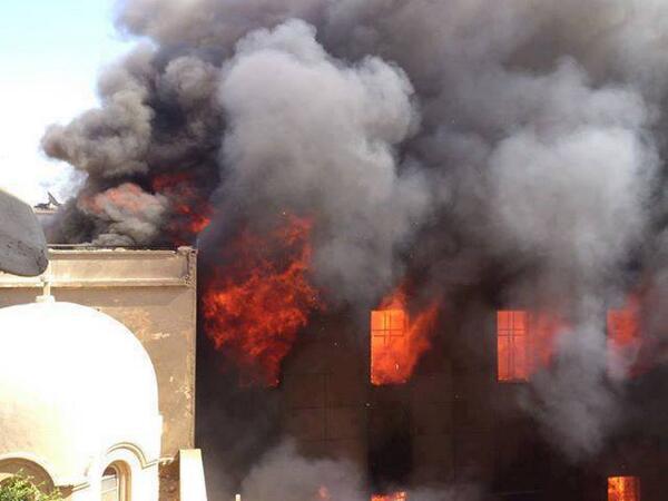 كنيسة الامير تادرس الأن #المنيا (c) Mena Fakhry, Twitter, 14th August 2013