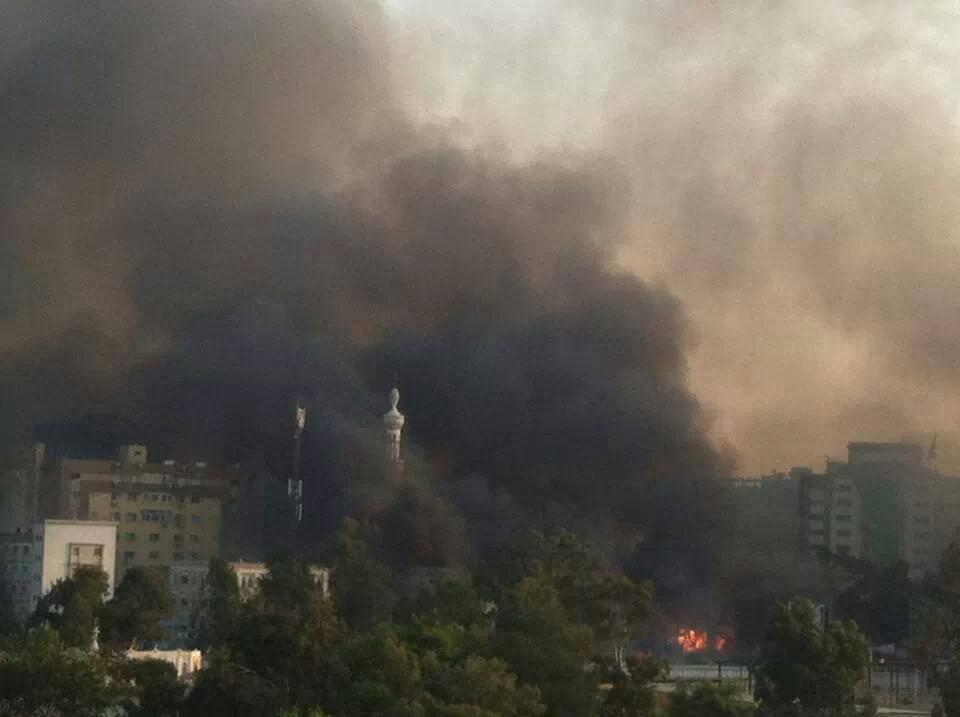 egyptian police burn field hospital