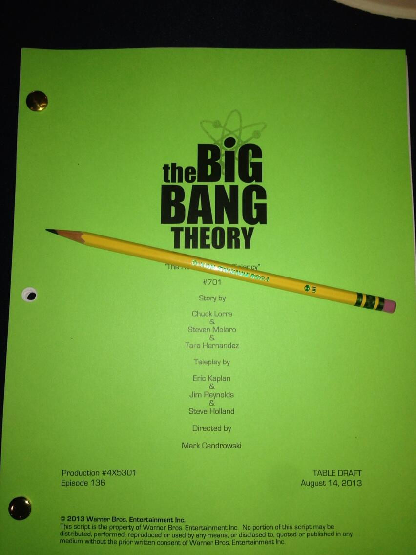 The Big Bang Theory Season 7 Returns in September. Image Source: Bill Prady/Twitter