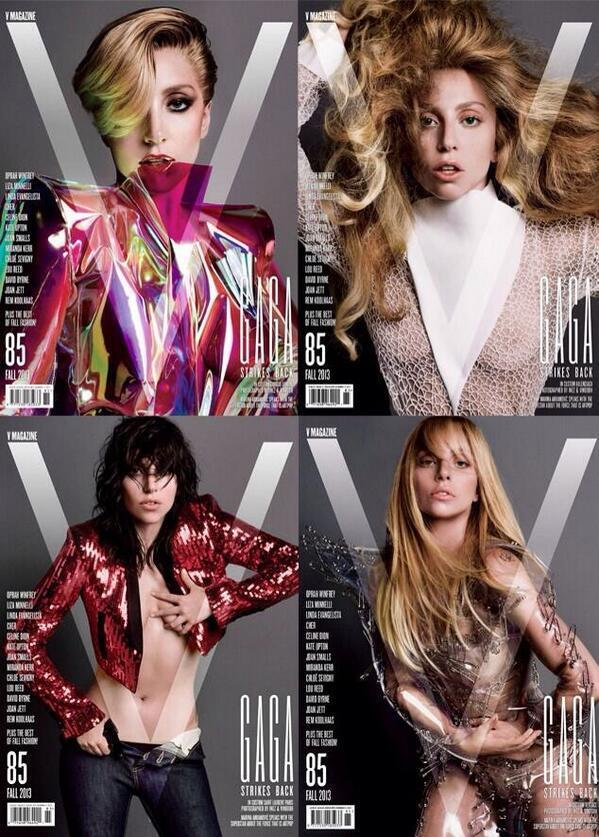 Lady Gaga Gets 4 Different Covers of 'V' Magazine