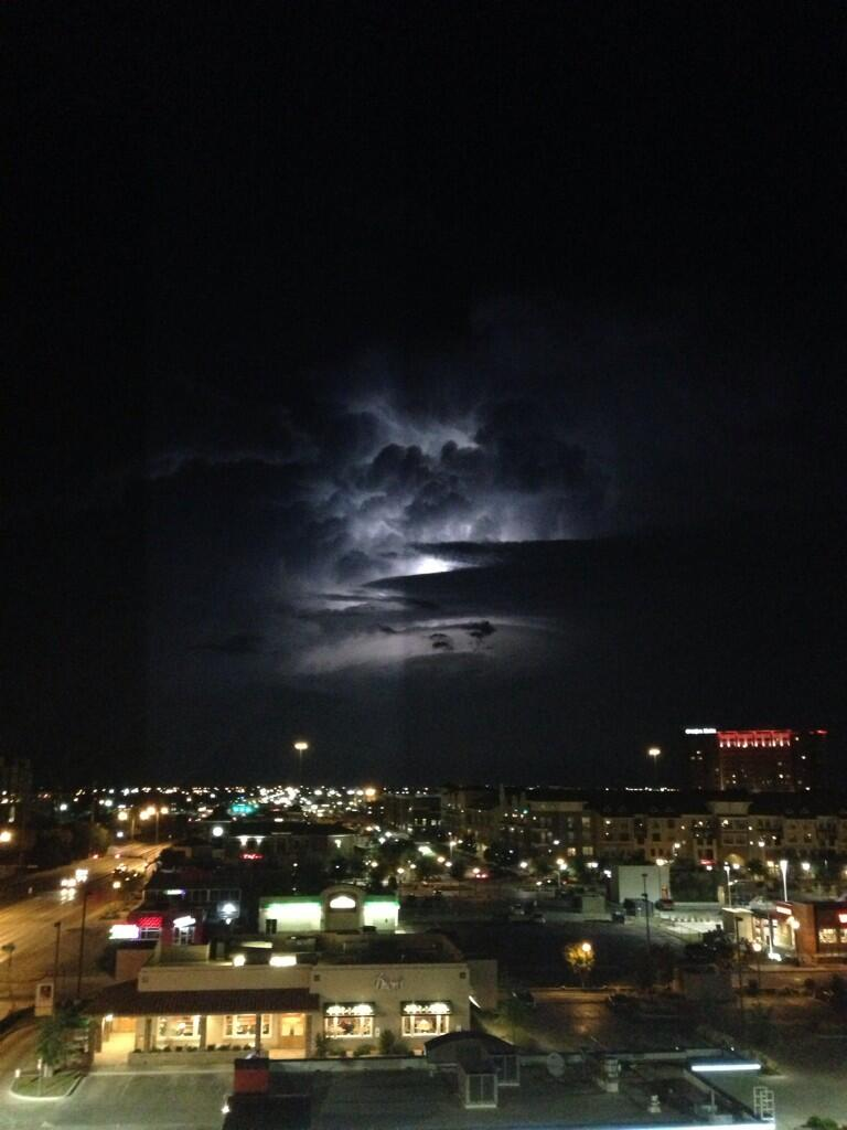 Storm over Lubbock, Texas, August 14, 2013 - photo by Texas Storm Chasers