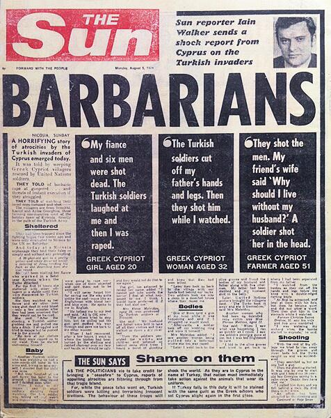 'Barbarians' – Iain Walker sends a shock report from Cyprus on the Turkish invaders